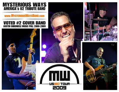 Contact Locolobo to book Mysterious Ways - America's U2 Tribute Band