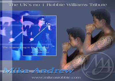 mike andrew as robbie williams